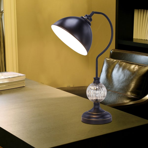 26 inch Madison Bronze metal & Mercury Glass Task Lamp