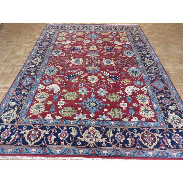 Oriental Serapi Heriz Rust Red Wool Hand-knotted Rug (8'10 x 12'1) 21543690