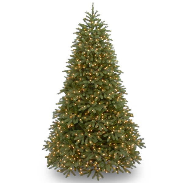 PowerConnect Green Jersey Fraser Fir 7.5-foot Medium Christmas Tree with Dual Color LED Lights
