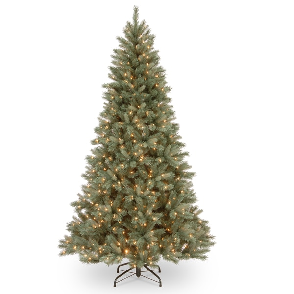 Harrington Artificial Blue Spruce 7.5-foot Tree with Clear Lights