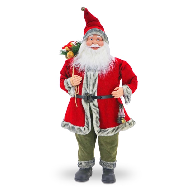 Red and Green 36-inch Santa