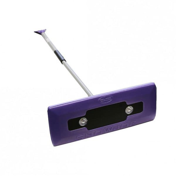 Snow Joe Illum-n-Broom LED-lighted Purple 4-in-1 Ice Scraper