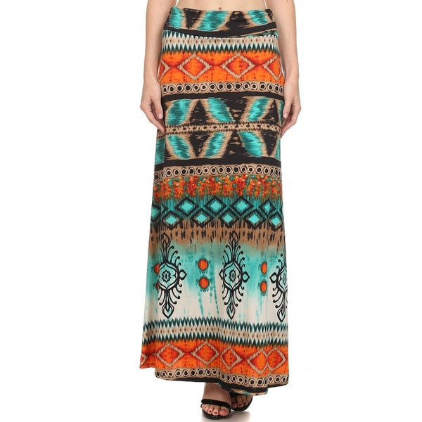 Women's Ikat Pattern Maxi Skirt