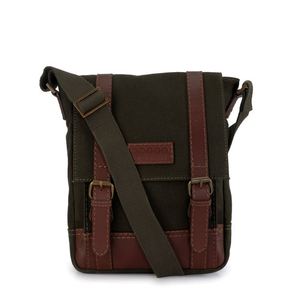 Phive Rivers Leather Messenger Bag (Green)