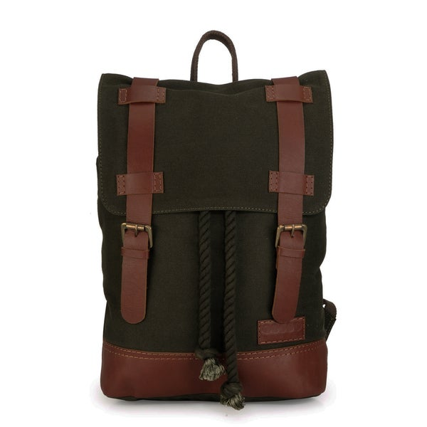 Phive Rivers Leather Backpack (Green)