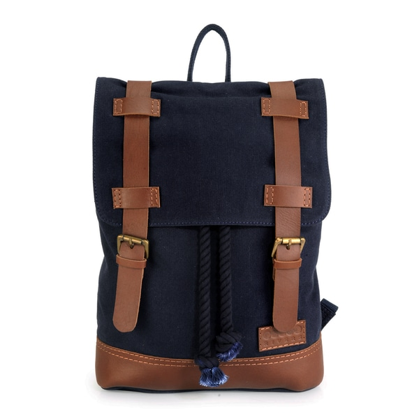 Phive Rivers Leather Backpack (Blue)