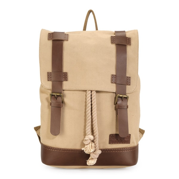 Phive Rivers Leather Backpack (Khaki)