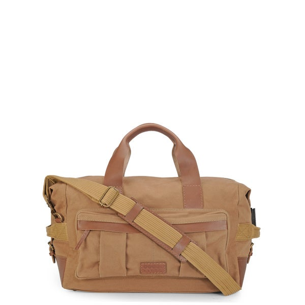 Phive Rivers Leather Duffle Bag/ Weekender Bag (Khaki)