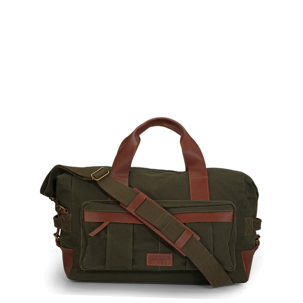 Phive Rivers Leather Duffle Bag/ Weekender Bag (Green)