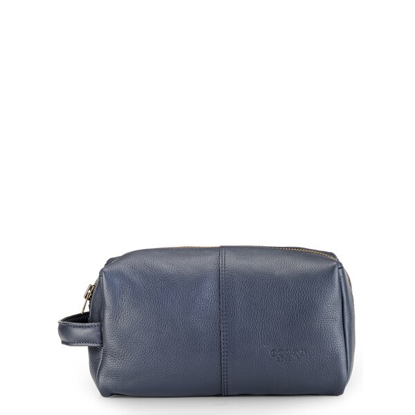 Phive Rivers Leather Wash Bag/Toilet Kit (Blue)