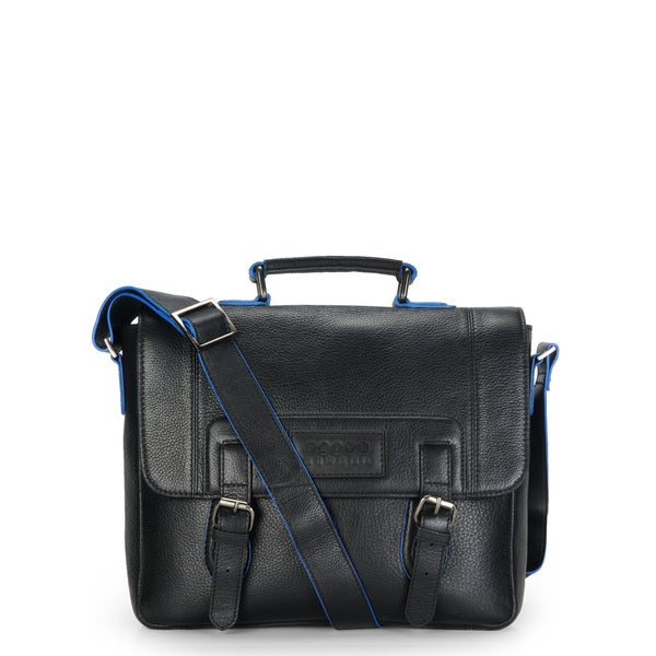 Phive Rivers Leather Messenger Bag (Black)