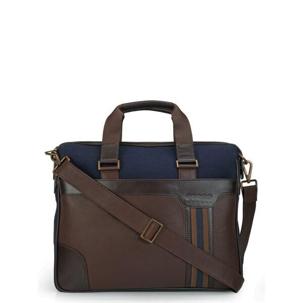 Phive Rivers Leather Laptop Bag/ Messenger Bag (Blue)