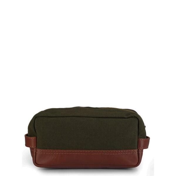 Phive Rivers Leather Wash Bag/Toilet Kit (Green)