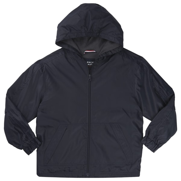 French Toast Boys' Blue Polyester Hooded Lined Jacket
