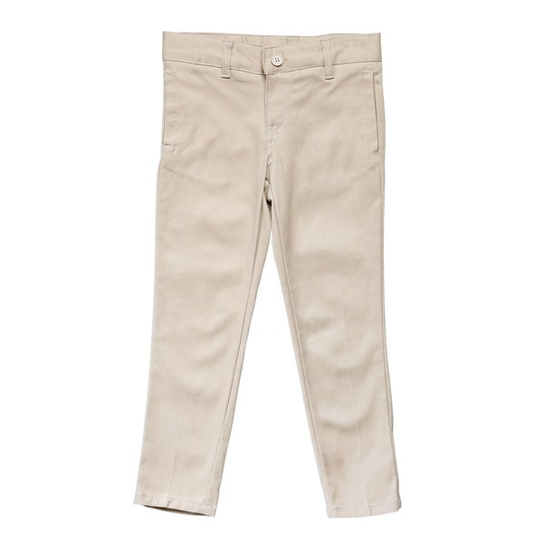 French Toast Girls Beige Skinny Stretch Twill Pant