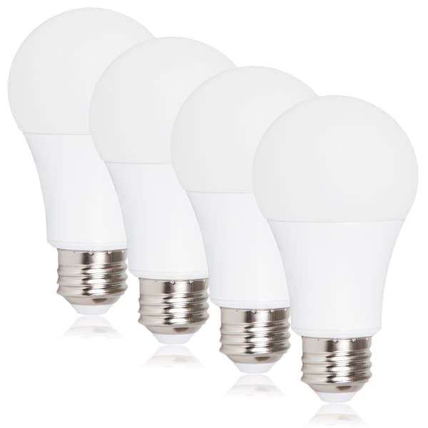 Maxxima Style Dimmable A19 LED Light Bulb 800 Lumens 9 Watts Warm White (4 Pack)