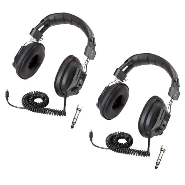 Califone 3068AV Switchable Stereo/Mono Headphones (2-Pack) Bundle