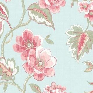 """Manhattan Comfort Bloomfield Floral Wallpaper - 20.5""""W x 32.7'L"""