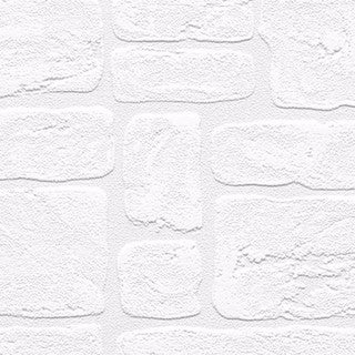 Andrew White Textured Paintable Bricks 33-foot x 21 Wallpaper - 33-foot x 21