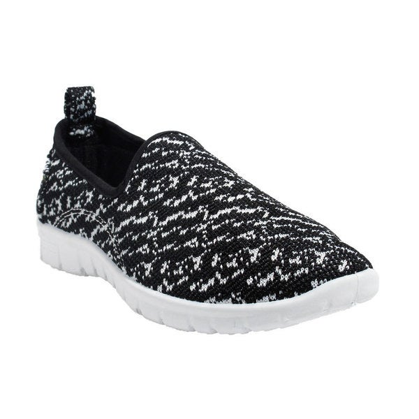 Blue Women's Boogie Calvin Black and White Fabric Fashion Sneakers