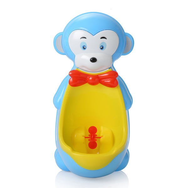 Light Blue Monkey Plastic Potty Training Urinal