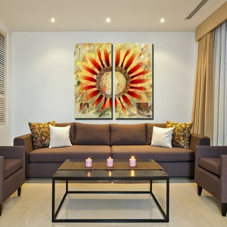 Ready2HangArt 'Painted Petals XLV' 2-Piece Canvas Wall Art Set