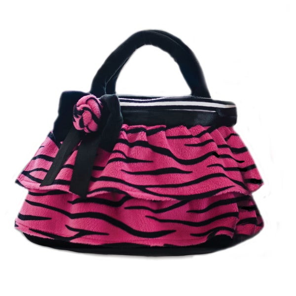 GirlznDollz Toddler Girls' Holiday Hot Pink Zebra Print Purse