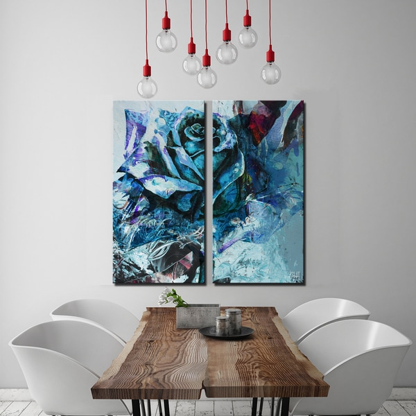 Ready2HangArt 2 Piece 'Painted Petals XXXIXI' Canvas Art Set 21573574