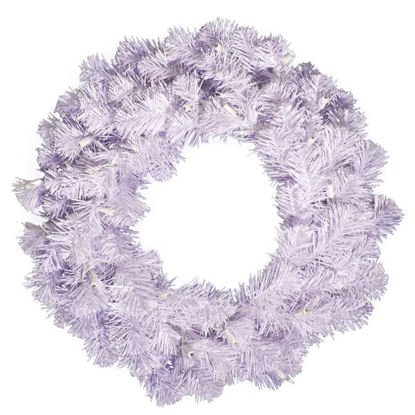 20-inch Crystal White Spruce Wreath with 90 Tips