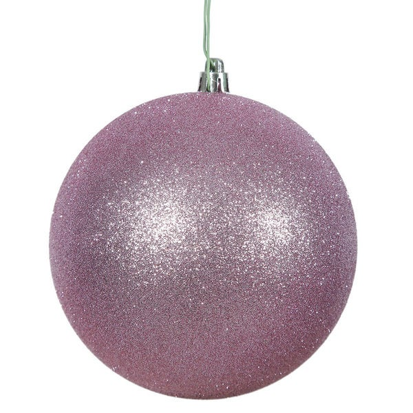 Orchid Pink Glitter 3-inch Ball Ornament (Pack of 12)