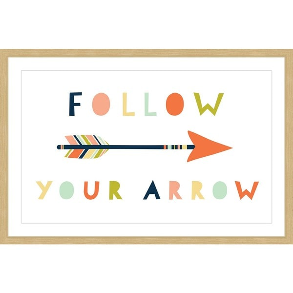 Marmont Hill - 'Follow Your Arrow' by Melanie Clarke Framed Painting Print