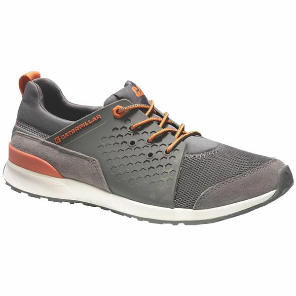 Cat By Caterpillar Men's Oxford Grey Leather Walking Shoes