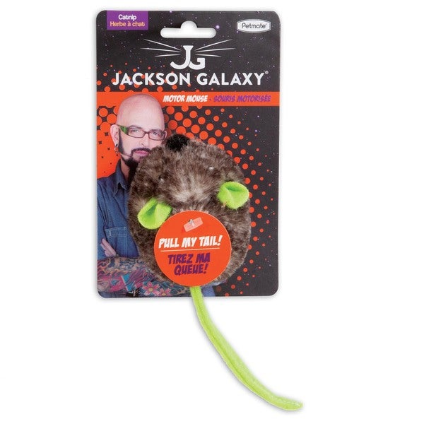 Jackson Galaxy Grey/Green Plastic Motor Mouse with Catnip Cat Toy