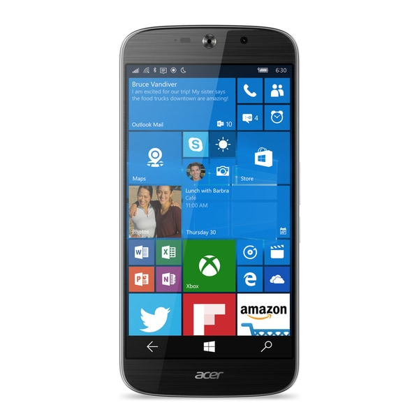 Acer Jade Primo 32GB Unlocked GSM 4G LTE Hexa-Core Windows Phone w/ 21MP Camera - Black