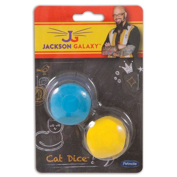 Jackson Galaxy Multicolored Rubber Cat Dice and Soft Cat Toy