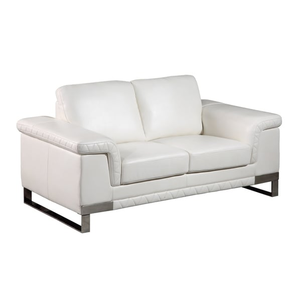 Global Furniture Blanche White Loveseat