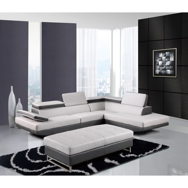 Global Furniture Setional Grey/Dk Grey