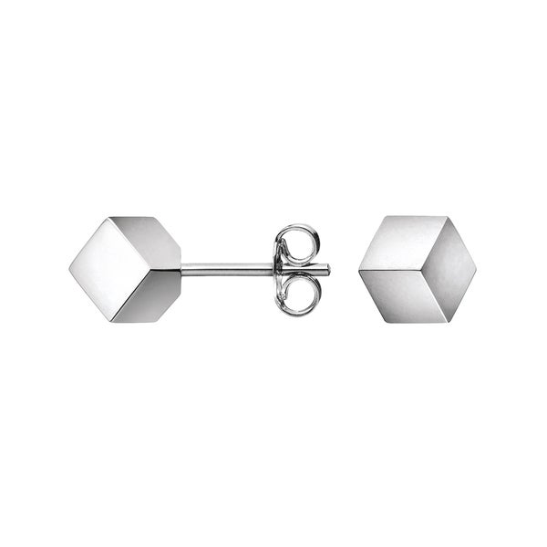 Calvin Klein Fractal Stainless Steel Women's Square Fashion Earrings 21576854