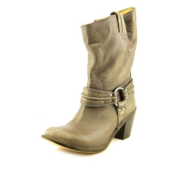 Frye Women's 'Carmen Harness Short' Grey Leather Boots