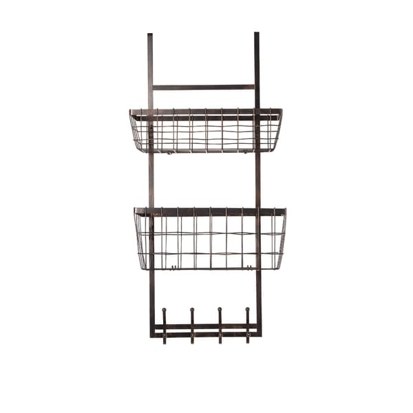 Gourmet Basics General Store Antique Black Wire Over-the-door Organizer,