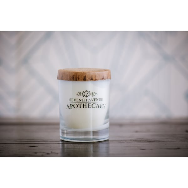 Hand-poured Artisan Winter Pine and Snow Soy Candle
