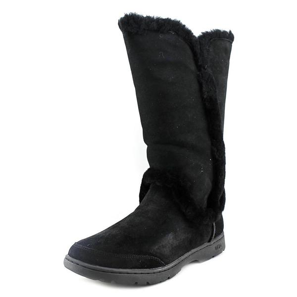 Ugg Australia Women's 'Katia' Black Regular Suede Low-heel Mid-calf Boots