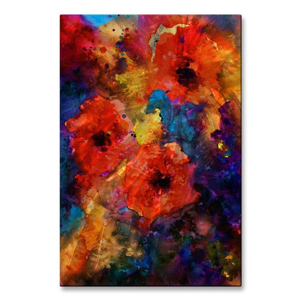 Svetlana Novikova 'Abstract Flowers 4' Metal Wall Art 21580036