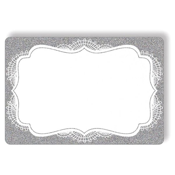 Stylish Silver Gift Tags