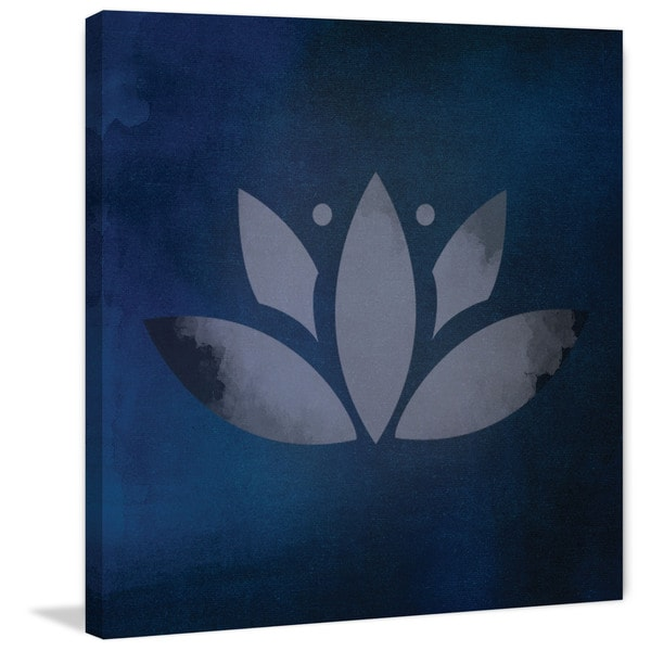 Marmont Hill - 'Lotus Leaf' by Diana Alcala Painting Print on Wrapped Canvas