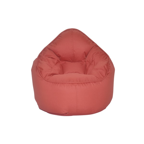 The Pod Red Polyester Bean Bag Chair
