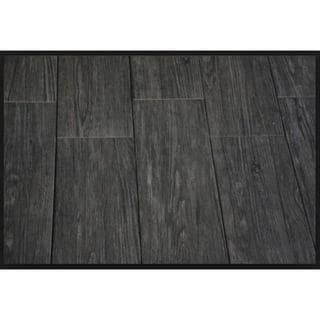 Black Label Living 6X24 Forest Black Porcelain Floor and Wall Tile (Case of 13/ 12.92 SFT.)