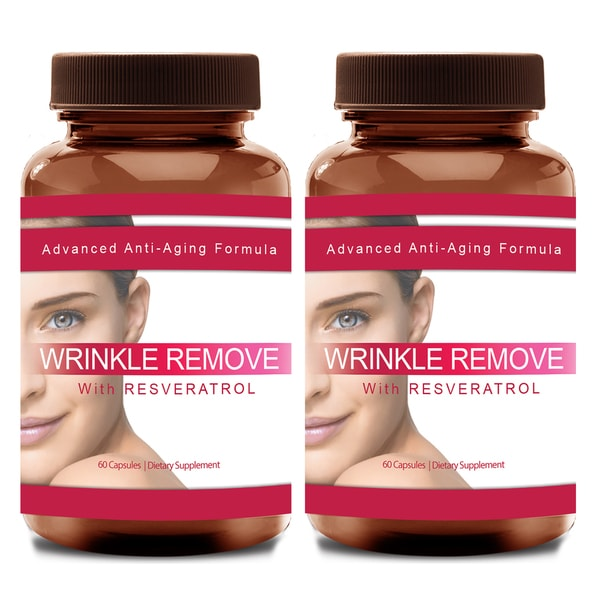 Wrinkle Remove Dietary Supplement with Resveratrol, Vitamin A-C-E, Green Tea, and Collagen
