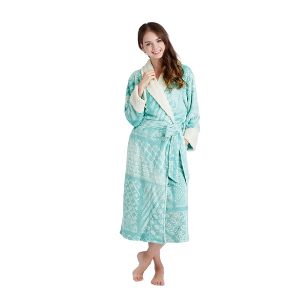 INK+IVY Batik Wrap Robe