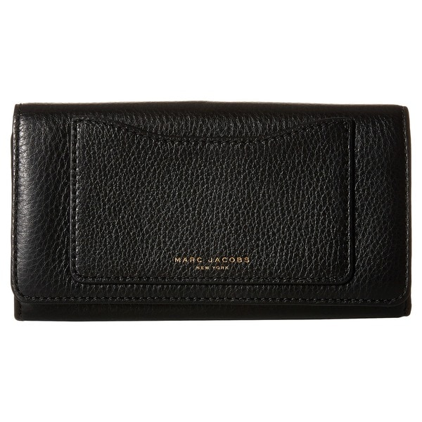 Marc Jacobs Recruit Black Leather Continental Wallet